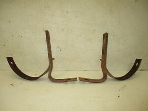 1950 50 Ford Car Rear Bumper Frame Support Mounts Irons Braces Brackets