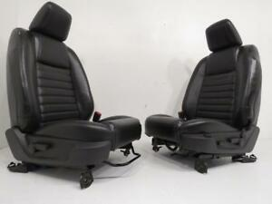 Ford Mustang Gt Seats Front Black Leather Power Lumbar 2005 2006 2007 2008 2009