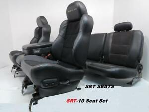 Dodge Ram Seats Srt 10 Leather Black Front Seat And Rear Seat 2002 2008