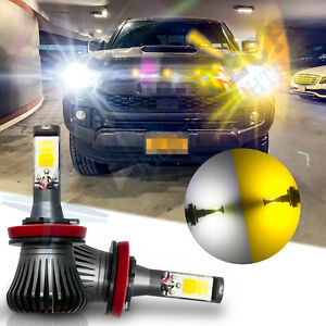 H11 White Yellow Dual Color Switch Led Fog Lights For Toyota Tacoma 2012 2019