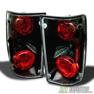 For 1989 1995 Toyota Pickup Black Tail Lights Brake Lamps Left Right Aftermarket