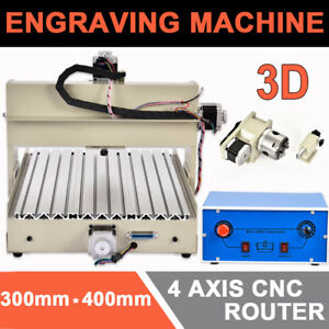 4 Axis Cnc Router 3040 Desktop 3d Engraver Engraving Drilling Milling Machine