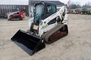2010 Bobcat T650 Skid Steer Loader Erops Heat ac High Flow 74hp Kubota Motor