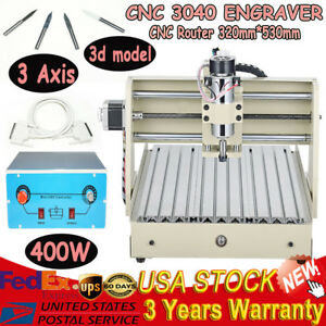 400w Spindle Cnc 3040 3 Axis Router Engraver Milling Drilling 3d Cutting Machine