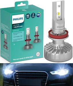 Philips Ultinon Led Kit White 6000k H8 Two Bulbs Drl Daytime Cornering Upgrade
