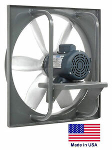 Exhaust Fan Industrial Direct Drive 30 3 4 Hp 115 230v 10 440 Cfm