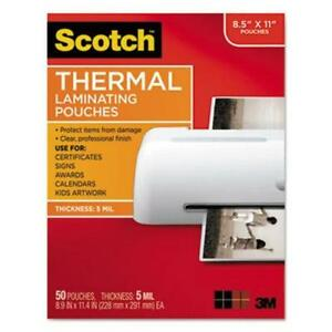 Scotch Thermal Laminating Pouches 1 1 2 X 9 50 Pouches mmmtp585450