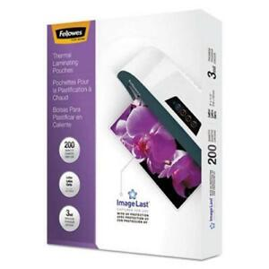 Fellowes Laminating Pouches With Uv Protection 3 Mil 200 Pouches fel5244101