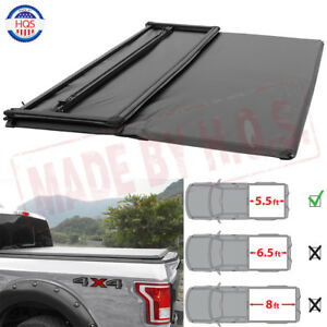 5 5ft Waterproof Soft Tri fold Truck Tonneau Bed Cover For 2009 2014 Ford F 150