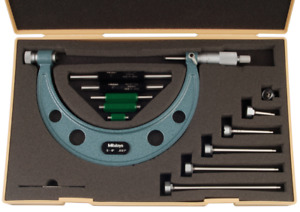 Mitutoyo 104 137 Interchangeable Anvil Outside Micrometer Set 0 6 Range 001