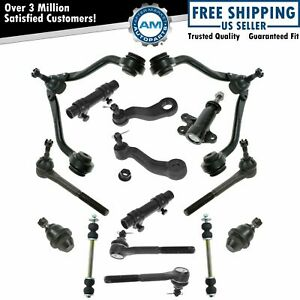 Control Arm Ball Joint Tie Rod Idler Pitman Steering Suspension Kit Set 15pc New