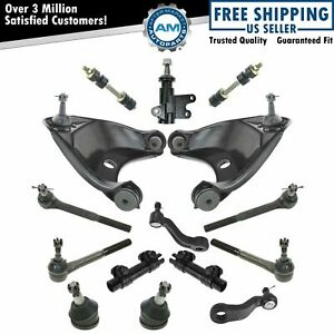 Steering Suspension Kit Control Arms Tie Rods Sway Bar End Links 15 Piece New