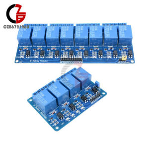 1 2 5 10pcs 5v 4 8 channel Relay Module Optocoupler For Arduino Pic Avr Dsp Arm