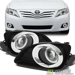 Projector For 2010 2011 Toyota Camry Led Fog Lights Bumper Driving Lamp Switch