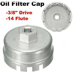 64mm Oil Filter Housing Tool Remover Cap Wrench Car 14 Flutes For Lexus Toyota