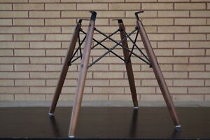 New Eames Real American Walnut Dowel Bases For Herman Miller Side Shell Chair