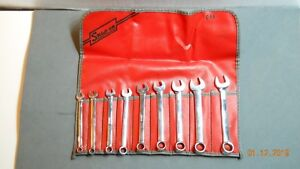 Snap on Short Combination Wrench Set 7mm 15mm With Tool Roll