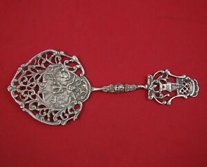 German Sterling By Various Makers 830 Silver Cucumber Server W Windmill