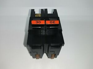 Fpe Federal Pacific Na230 Stab Lok 30 Amp 2 Pole Circuit Breaker Thick Na Red