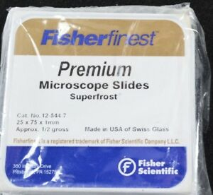Lot Of 9 Fisher Finest Premium Microscope Slides Superfrost 1 2 Gross 12 544 7