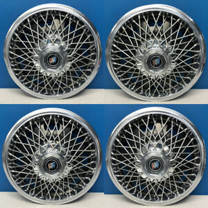1982 1985 Buick Century 1104 Wire Hubcaps Wheel Covers Gm 25511220 Set 4
