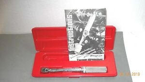 Snap on 3 8 Drive Adjustable Ratching Torque Wrench 30 To 200 Inch Pounds