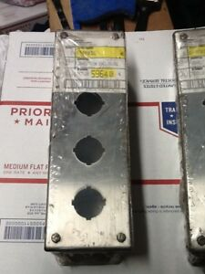 Hoffman E4pbss Pushbutton Enclosure Stainless Steel New