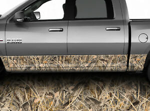 Rocker Panel Graphic Adhesive Decal Wrap Kit Tall Grass Duck Hunting Camouflage