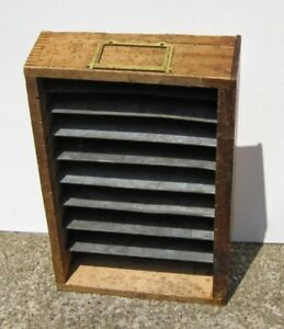 Vintage Walden Wrench Partitioned Hardware Store Box Shelving Display