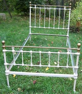 Antique Brass And Iron Bed Single Old Size