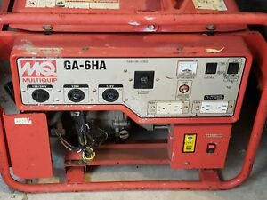 2011 Mq Multiquip Ga6ha Portable Skid Mounted Generator 125 250v 79 Dba