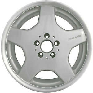 65233 Refinished Mercedes Benz Cl600 2003 2004 18 Inch Wheel Silver W Cut Flange