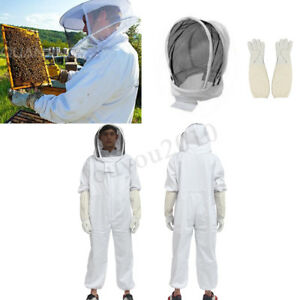 Full Body Thick Beekeeping Beekeeper Bee Suit Jacket Ventilated Veil Protective