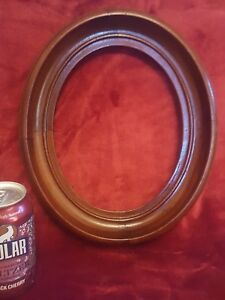 Antique Deep Oval Walnut Picture Frame 11 X 13