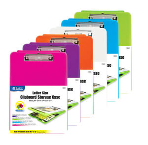 New 401277 Translucent Clipboard Storage Case 12 pack Office Supply