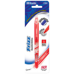 New 401548 Frizz Red Erasable Gel Pen With Grip 24 pack Pens Wholesale