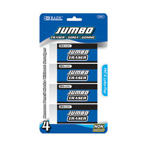 New 401708 Jumbo Vinyl Eraser 4 Pack 24 pack School Supplies Wholesale