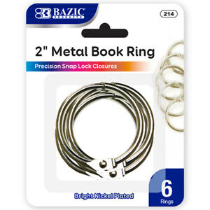 New 401692 2 Inch Metal Book Rings 6 Pack 24 pack Binders Wholesale