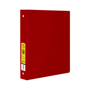 New 402029 1 5 Inch Red 3 Ring Binder W 2 Pockets 12 pack Binders Cheap