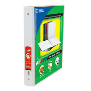 New 401851 1 Inch White 3 Ring View Binder W 2 Pockets 12 pack Binders
