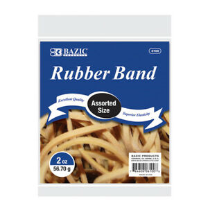 New 402296 2 Oz 56 70 G Assorted Sizes Rubber Bands 36 pack Rubber Bands