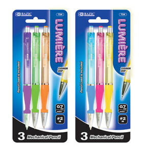 New 402337 Lumiere 0 7 Mm Mechanical Pencil W Grip 3 Pack 24 pack