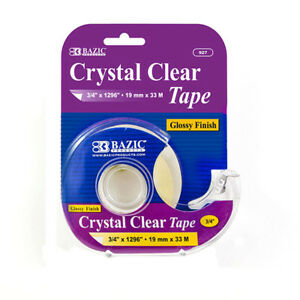 New 402417 3 4 Inch X 1296 Inch Crystal Clear Tape W Dispenser 24 pack