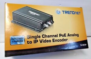 Trendnet Single Channel Poe Analog To Ip Video Encoder For Cctv Cameras Tv vs1p