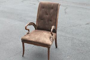 Vintage Victorian Hand Carving Arm Chair Armchair Living Room 1800 S Xix Century