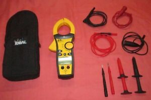 Ideal 61 772 1000 Amp Clamp Meter Alligator Clip Lead Tighsight Bottom Display