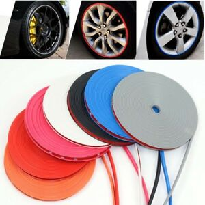 8m Car Hub Trim Anti Collision Strip Wheel Rim Protector Ring Tire Edge Stickers