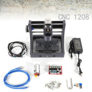 Mini 3 Axis Usb Cnc 1208 Router Wood Carving Engraving Machine Pcb Milling New