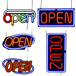 Led Neon Open Sign 20x10 24x12 31 5x15 7 Inch Vertical 31 5x15 7 Inch Shops