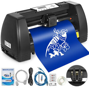 Vinyl Cutter Plotter Cutting 14 Sign Sticker Making Print Software 3 Blades Usb